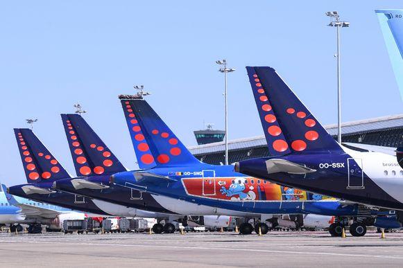 De vloot van Brussels Airlines staat al wekenlang geparkeerd op Brussels Airport.