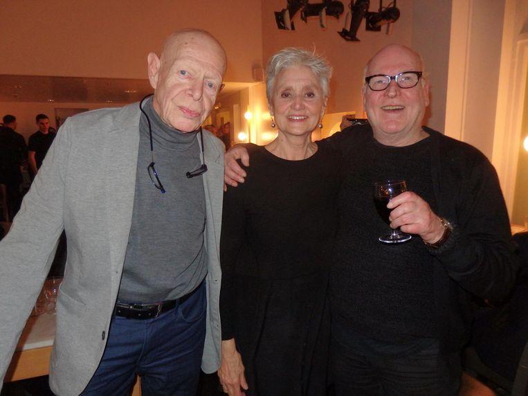 Fotograaf Bert Nienhuis, actrice Truus te Selle en castingfenomeen Hans Kemna. 'We hadden allemaal al weg willen gaan, Rob' Beeld Schuim