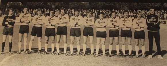 Een oude ploegfoto van KSV Oudenaarde.