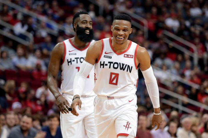 James Harden en Russell Westbrook zijn, behoudens verdere transferontwikkelingen, de sterkhouders bij Houston.