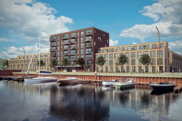 De jachthavenplaatsen in het Dok zijn een belangrijk verkoopargument voor de woningen in de complexen die Volker Wessels nu voorbereidt aan de Jan Weugkade in Vlissingen.