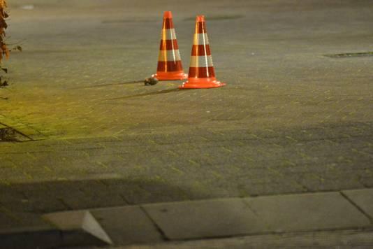 De granaat ligt bij de toegang naar het Roelandshof Breda