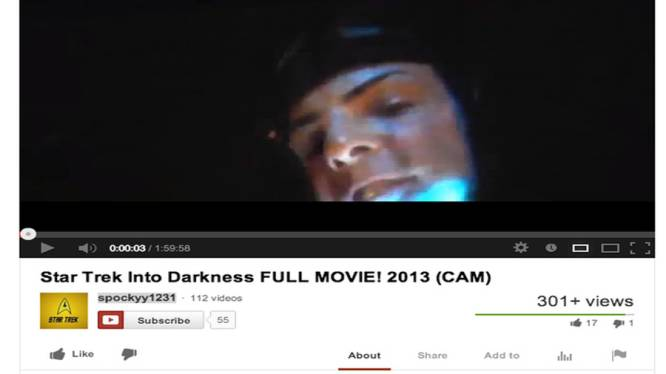 Nieuwe 'Star Trek'-film stond meer dan 24 uur op YouTube