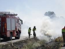 Brand in berm Oploo woedde op vijf plaatsen
