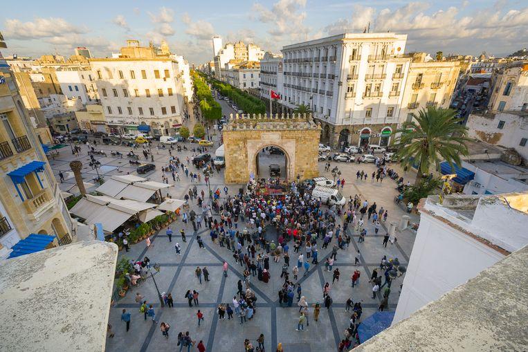 Place de la Victoire aan de rand van de medina (niet in beeld) tijdens een concert van Amir ElSaffar. Beeld Dream City