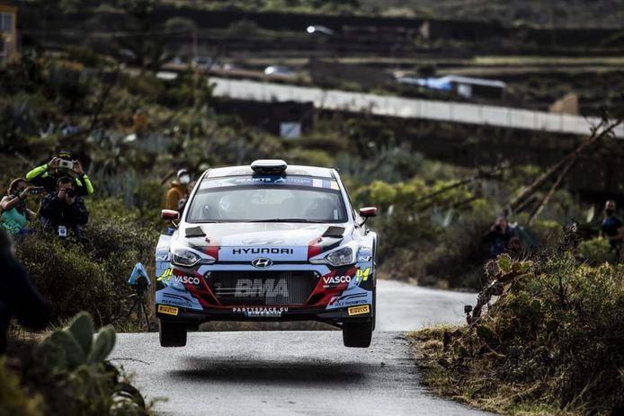 Grégoire Munster behaalt een eindpodium in EK rally en wordt tweede Junior.