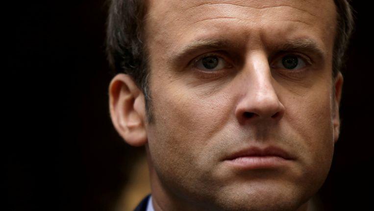 Emmanuel Macron is niet gediend van het 'fake news' dat over hem verspreid zou worden. Beeld reuters