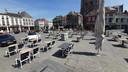 Proefopstelling terrassen Grote Markt.