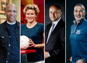 De commissie Mijnals. Vlnr: Humberto Tan, Daphne Koster, Ahmed Marcouch en Ruud Gullit.