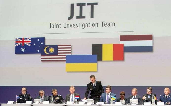 Het Joint Investigation Team presenteerde de eerste resultaten van het strafrechtelijk onderzoek naar de crash van MH17. foto ANP
