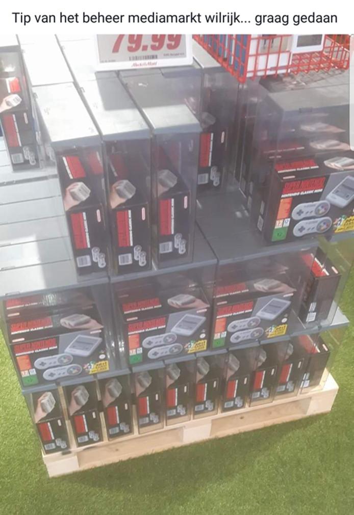 Allemaal naar de Mediamarkt in Wilrijk voor een SNES Classic Mini