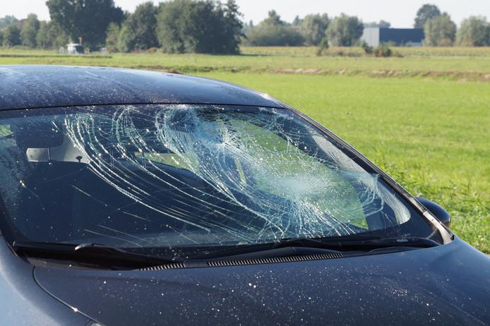 Auto na het ongeluk