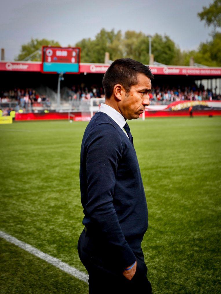Feyenoord-trainer Giovanni van Bronckhorst. Beeld anp