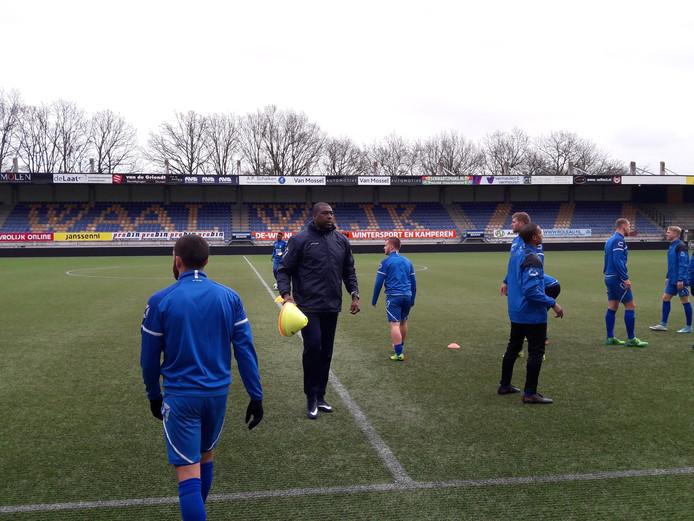 Regillio Vrede tijdens de eerste training van RKC Waalwijk na de winterstop.
