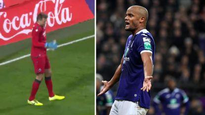Kompany en Mignolet gaan viraal, Anderlecht wil bommetjesgooier stadionverbod opleggen
