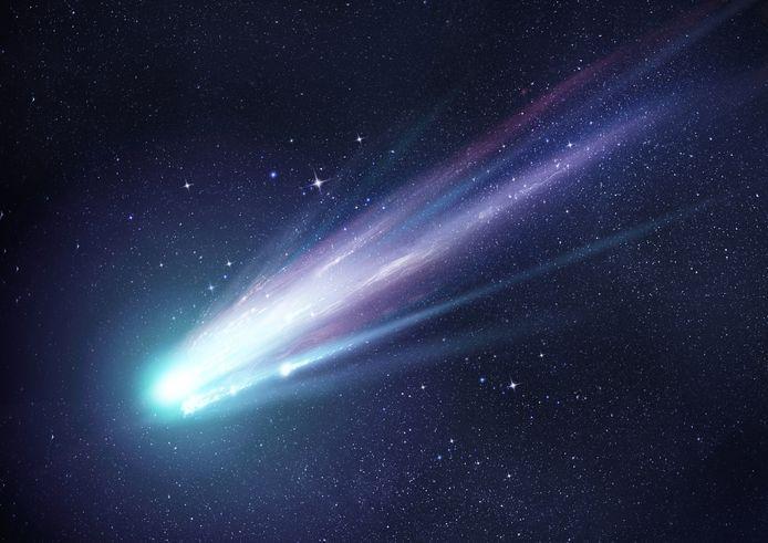 Beeld ter illustratie: een bol met een lange staart wijst soms op een meteoriet.
