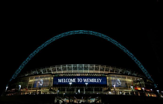 Het Wembley Stadium in Noord-Londen.