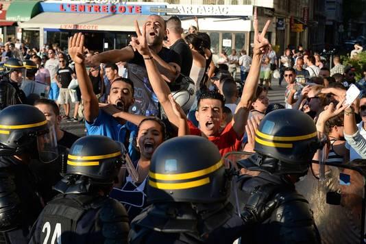 Contre-manifestants pro-Gaza