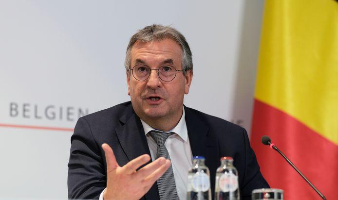 Le ministre-président de Fédération Wallonie-Bruxelles Pierre-Yves Jeholet
