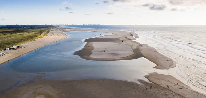 De Nederlandse zandmotor bij Ter Heijde.