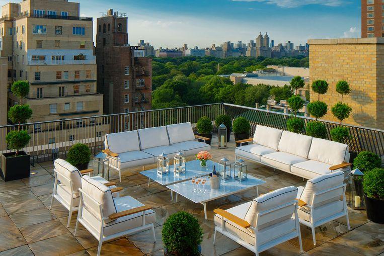 Een van de echte eyecatchers van de hotelkamers: het dakterras met zicht op Central Park.