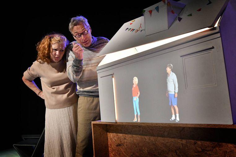 Een scène in de productie 'Maquette'  Beeld Carlo ter Ellen DTCT
