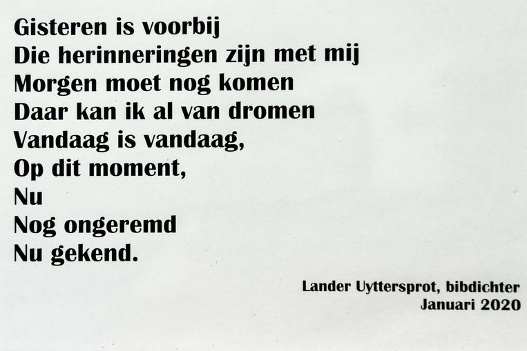 Het sms-gedicht van Lander.