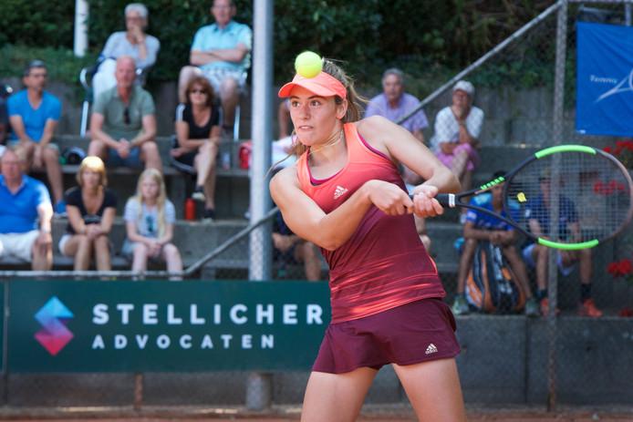 Solana Sierra verloor vorig jaar in Oosterbeek het enkelspel bij de meisjes.