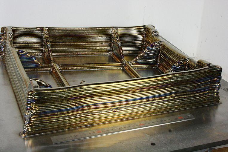 Titanium printed structure Beeld EADS