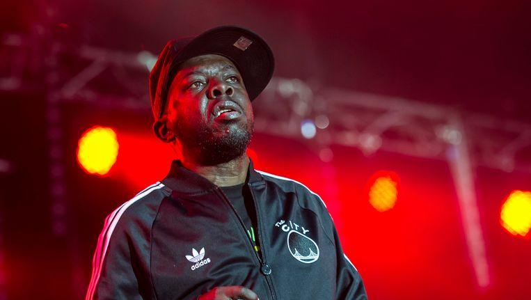 Rapper Malik Taylor, beter bekend als Phife Dawg,tijdens een optreden in 2013. Beeld anp