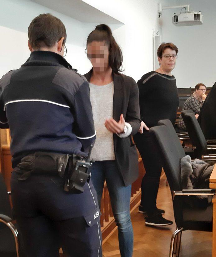 Madiea G. bij aanvang van de rechtszaak in Duitsland