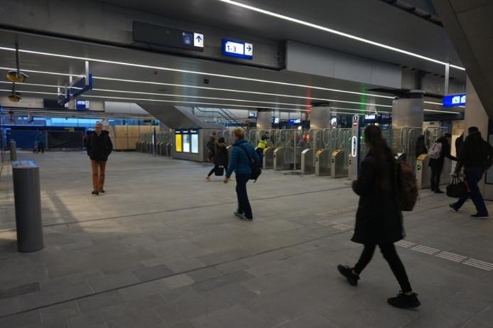 De passage van het station