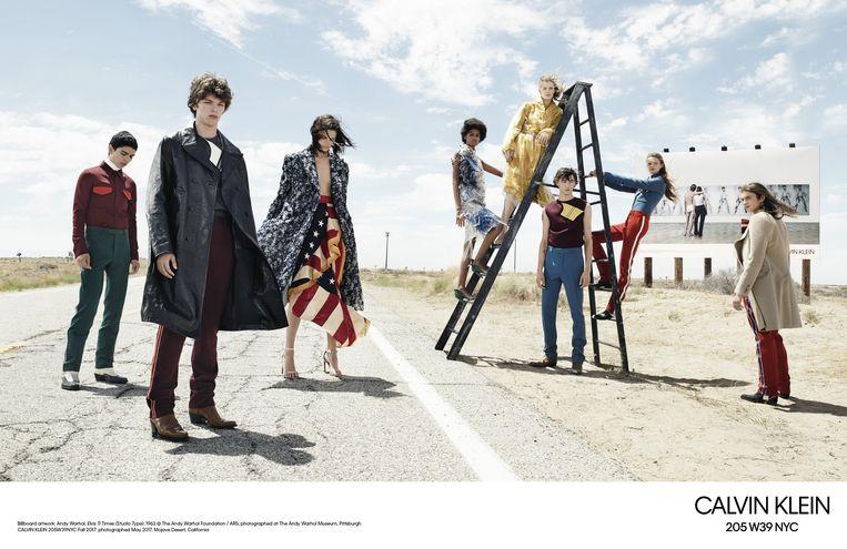 Een campagne voor de 205W39NYC-collectie van Calvin Klein.