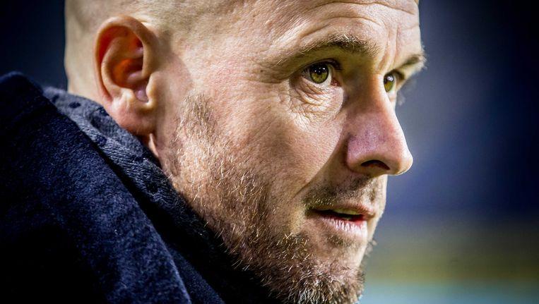 Trainer Erik ten Hag bij zijn laatste wedstrijd voor FC Utrecht, tegen NAC in Breda. Beeld null