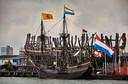 De Halve Maen lag in 2016 al eens afgemeerd in Delfshaven.