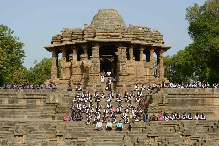 In Modhera, India. Beeld AFP