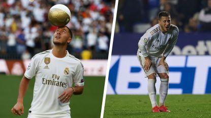 Van zijn voorstelling met overgewicht over zijn eerste goal tot zijn enkelbreuk: het overzicht van het verloren jaar van Hazard in Madrid