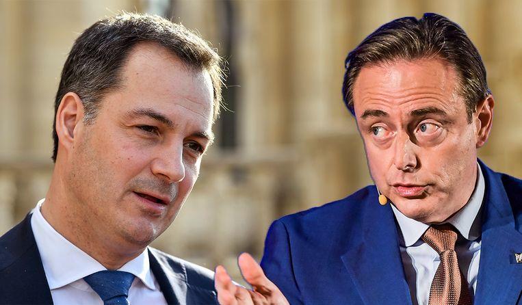 Vicepremier Alexander De Croo en Bart De Wever, voorzitter van N-VA.