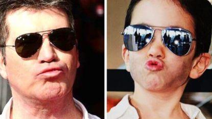 Hilarisch: zoontje van Simon Cowell verkleedt zich als zijn papa