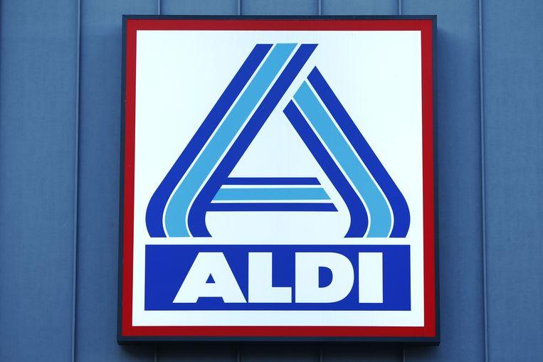 Het logo van Aldi