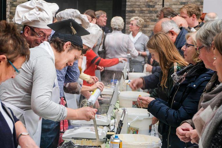 1.000 gratis wafels werden er dit weekend gebakken.