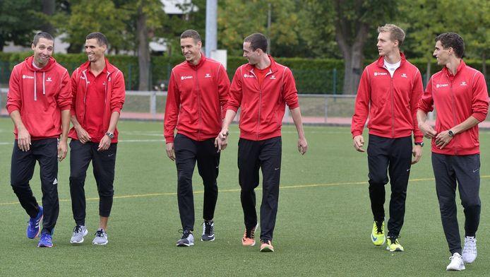 Het mannenteam van de 4x400 meter.