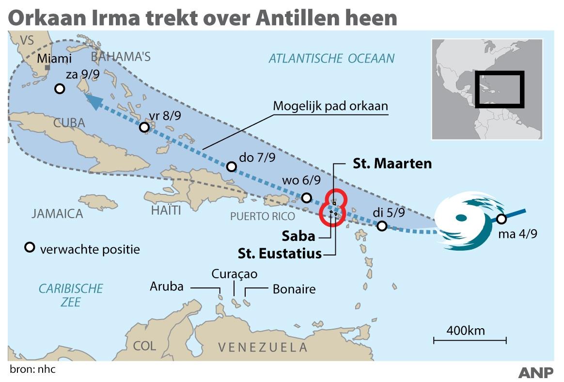 Rode Kruis Help Mee Sint Maarten In Kaart Te Brengen Voordat Irma - Sint eustatius map