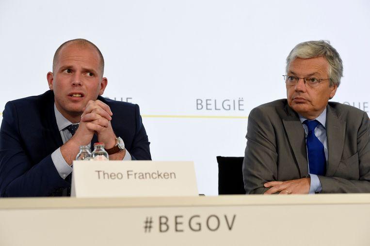 Theo Francken (N-VA) en Didier Reynders (MR)