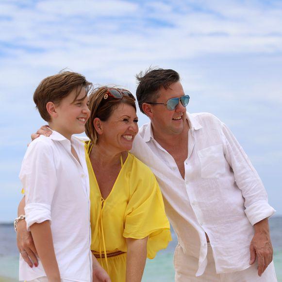 Ben en Anja met hun zoon.