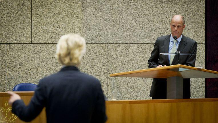 Stef Blok in debat met Geert Wilders. © ANP Beeld