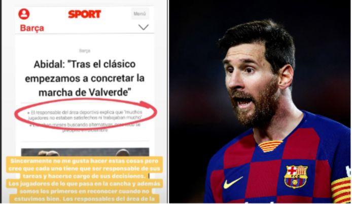 Le post de Messi