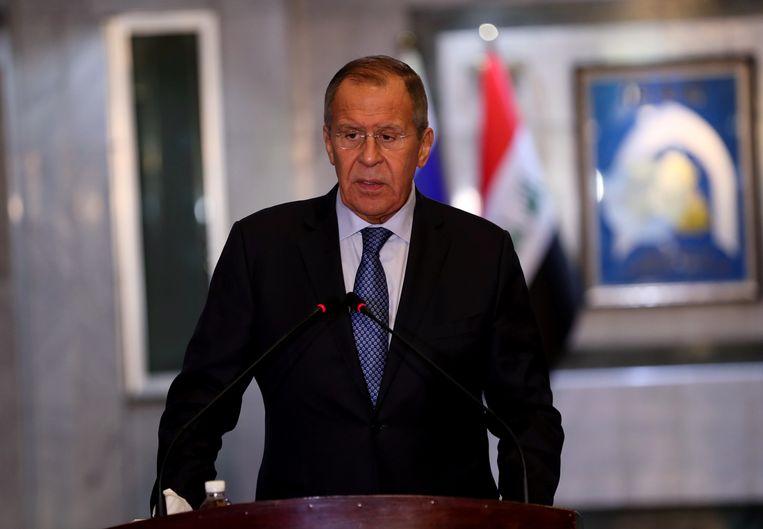 De Russische minister van Buitenlandse Zaken Sergej Lavrov.