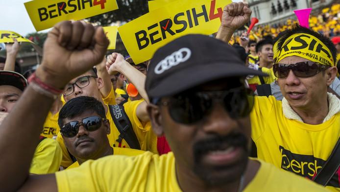 Betogers in Kuala Lumpur.