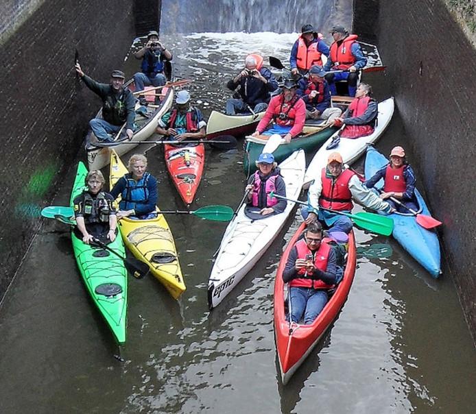 Deelnemers vorig jaar bij de kanorally.